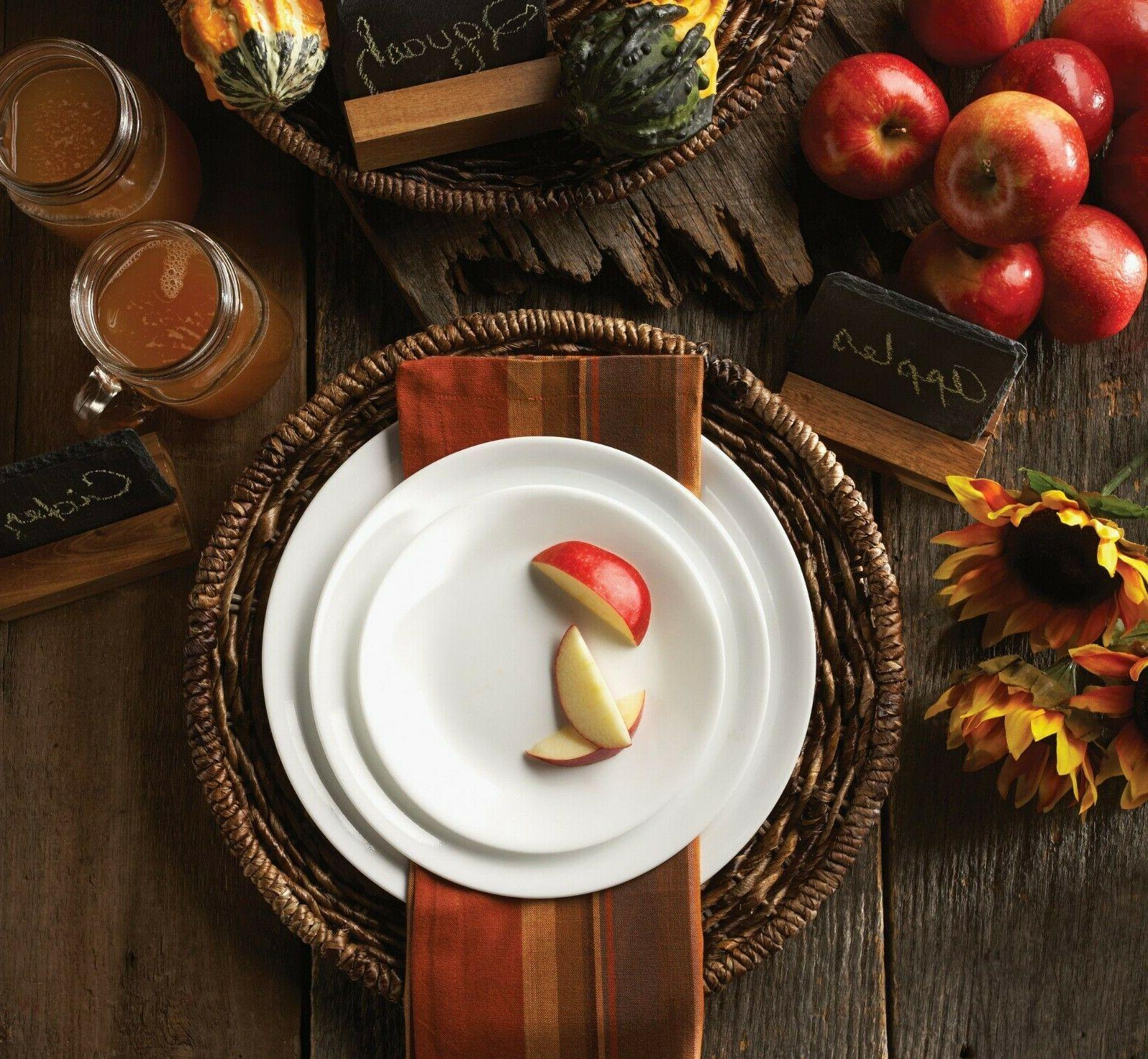 corelle livingware winter frost white dinnerware set