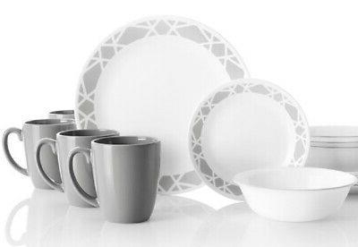corelle modena 16 piece dinnerware set service