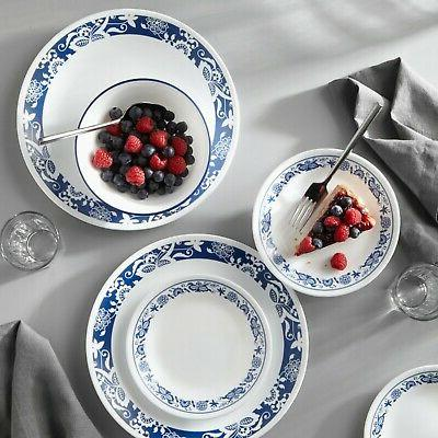 corelle true blue 16 piece dinnerware set