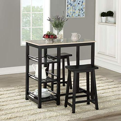 Phenomenal Mainstay 3 Piece Counter Height Dining Table And Stools Machost Co Dining Chair Design Ideas Machostcouk