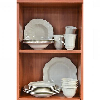 Red Vanilla 'Country Estate' White 16-piece Dinnerware