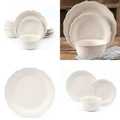 The Lace Dinnerware Set, Linen