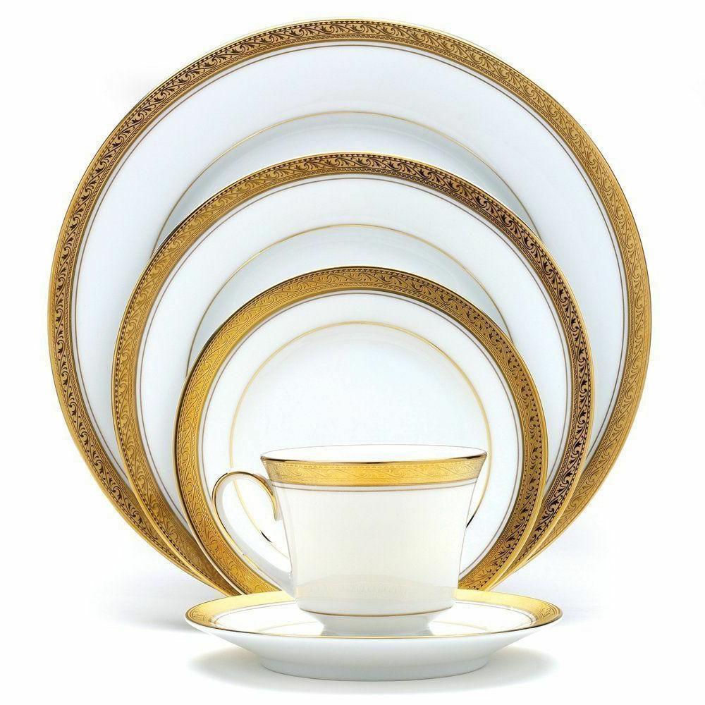 crestwood gold 50 pc dinnerware service