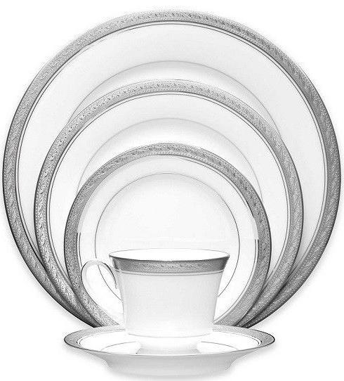 crestwood platinum 50 piece dinnerware service