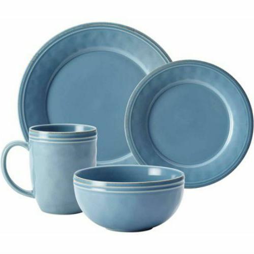Rachael 16-Piece Dinnerware Set for 4 Agave