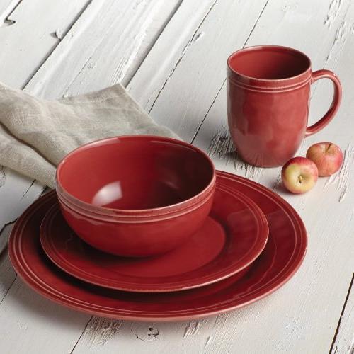 Rachael Dinnerware 16-Piece Stoneware Cranberry