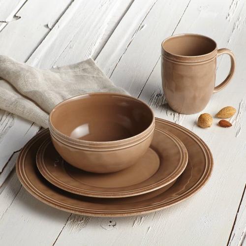 Rachael Ray® Cucina Mushroom Brown 16-pc. Dinnerware Set
