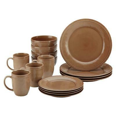 cucina mushroom brown dinnerware set