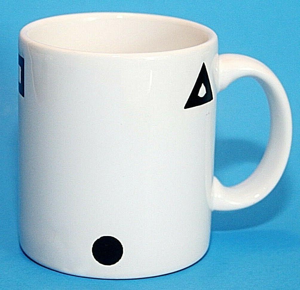 "Waechtersbach Mug 7.75"" Plate Geometric White Vintage"
