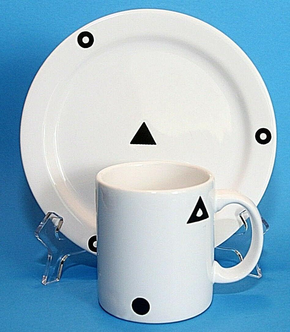 "Waechtersbach & 7.75"" Plate Geometric Spain White"