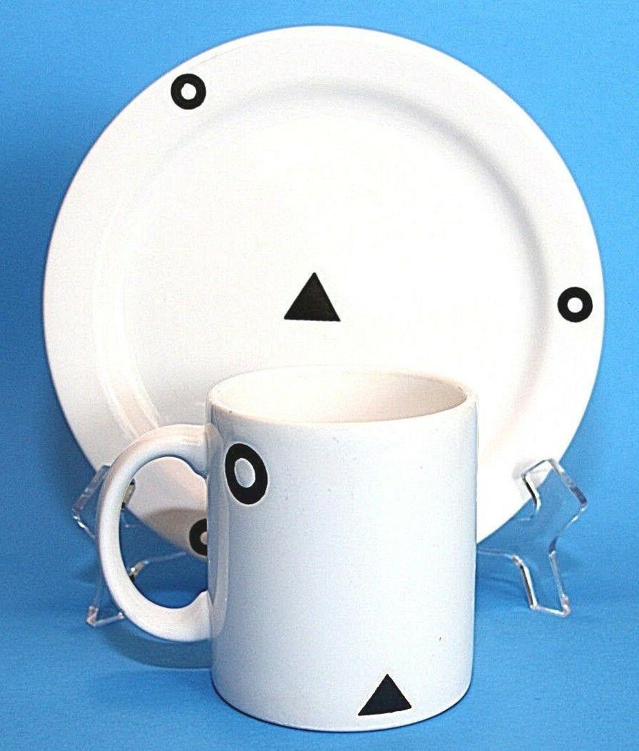 cup mug and 7 75 plate geometric