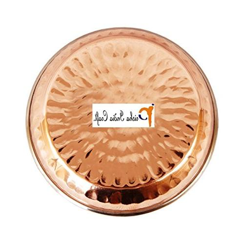 Set Prisha India Craft Steel copper Dessert , Halwa Dish Inches Accessories- CHRISTMAS GIFT
