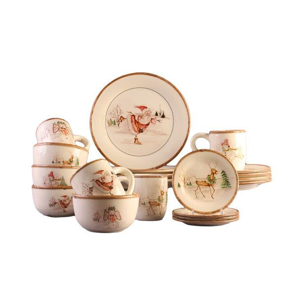 20-piece Dinner Serving Dishes China Holiday