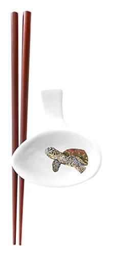 Kim Rody Creations Dinnerware Chopstick Set Turtle Study