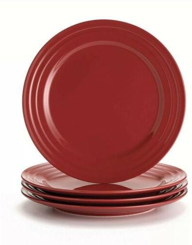 dinnerware double ridge dinner plate set 4