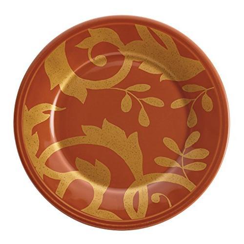 Rachael Gold Scroll 4-Piece Plate Set,