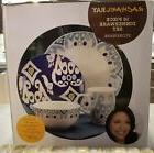 Rachael Ray Dinnerware Ikat 16-Piece Stoneware Dinnerware Bl