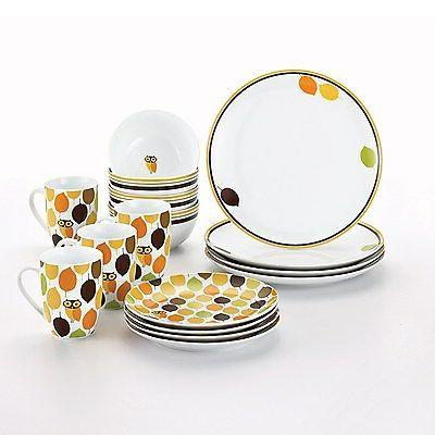 Rachael Ray Dinnerware Hoot 16-Piece Dinnerware Set
