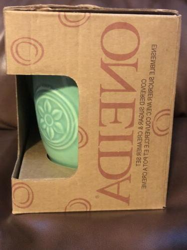 Oneida Dinnerware Petals Sugar And Creamer Willow Green Box