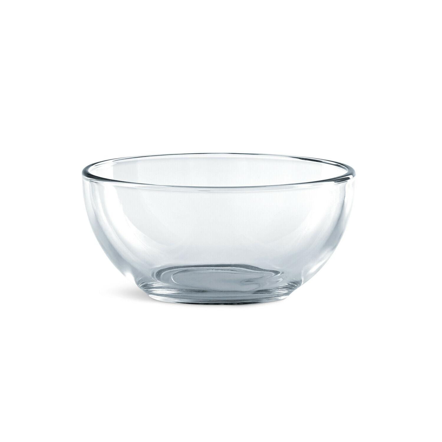 Dinnerware 12 Pcs Modern Thick Clear Glass Dinner Bowls Dishes