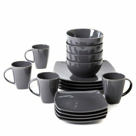 Dinnerware Set Dinner Ware Square Sets Kitchen Plates Dishes Bowls