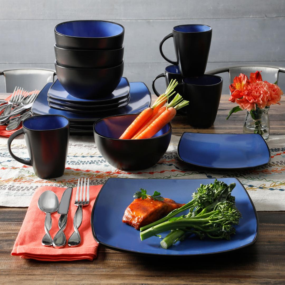 DINNERWARE Bowls Dishes Square Dinner
