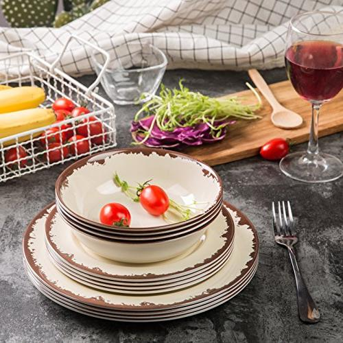 Dinnerware - Dinner Dishes Set Camping Use, Safe