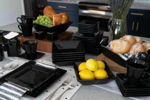 Dinnerware Black Kitchen 45 Dinner