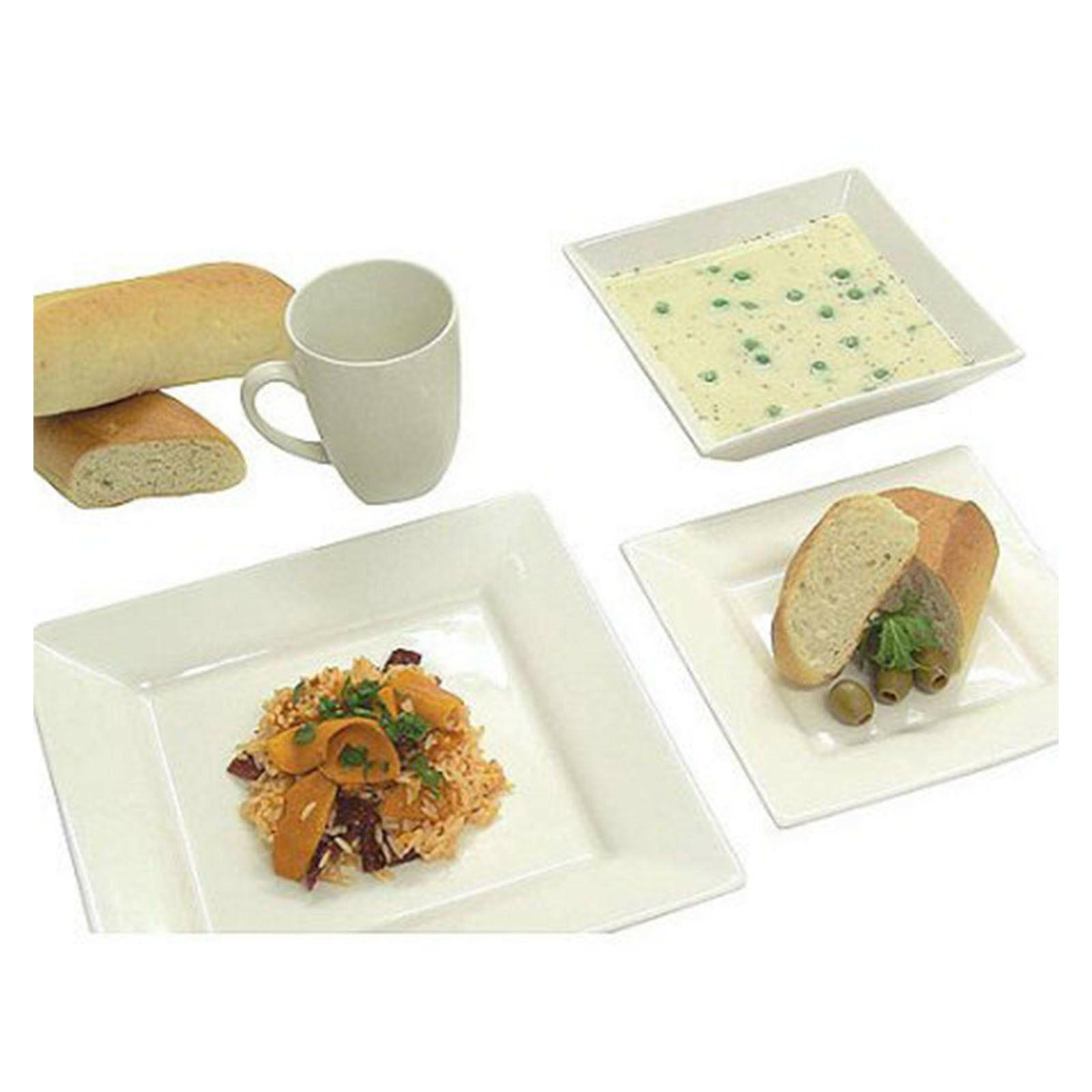 Dinnerware Set For Square Dishes Bowls