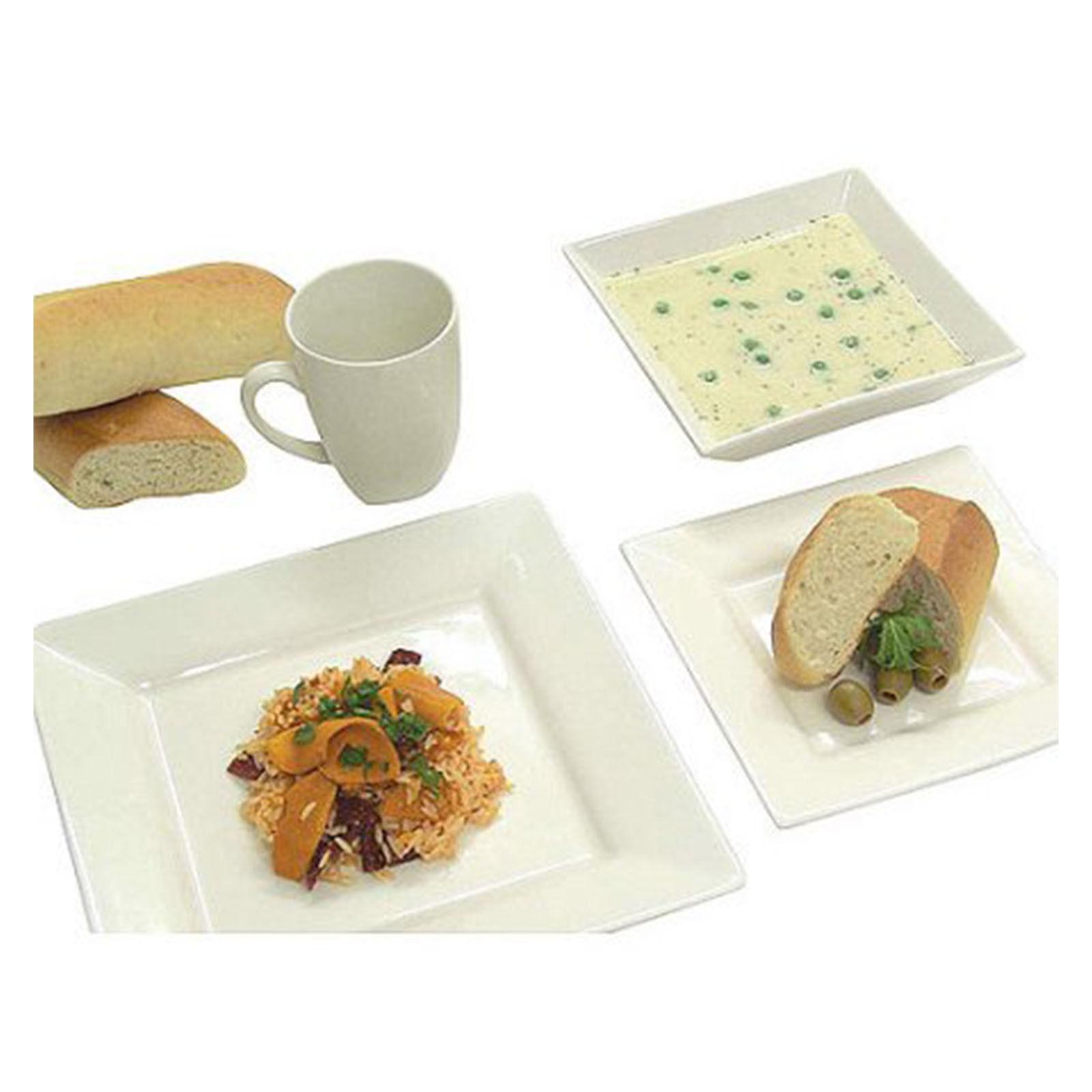 Square Porcelain Dishes Bowls