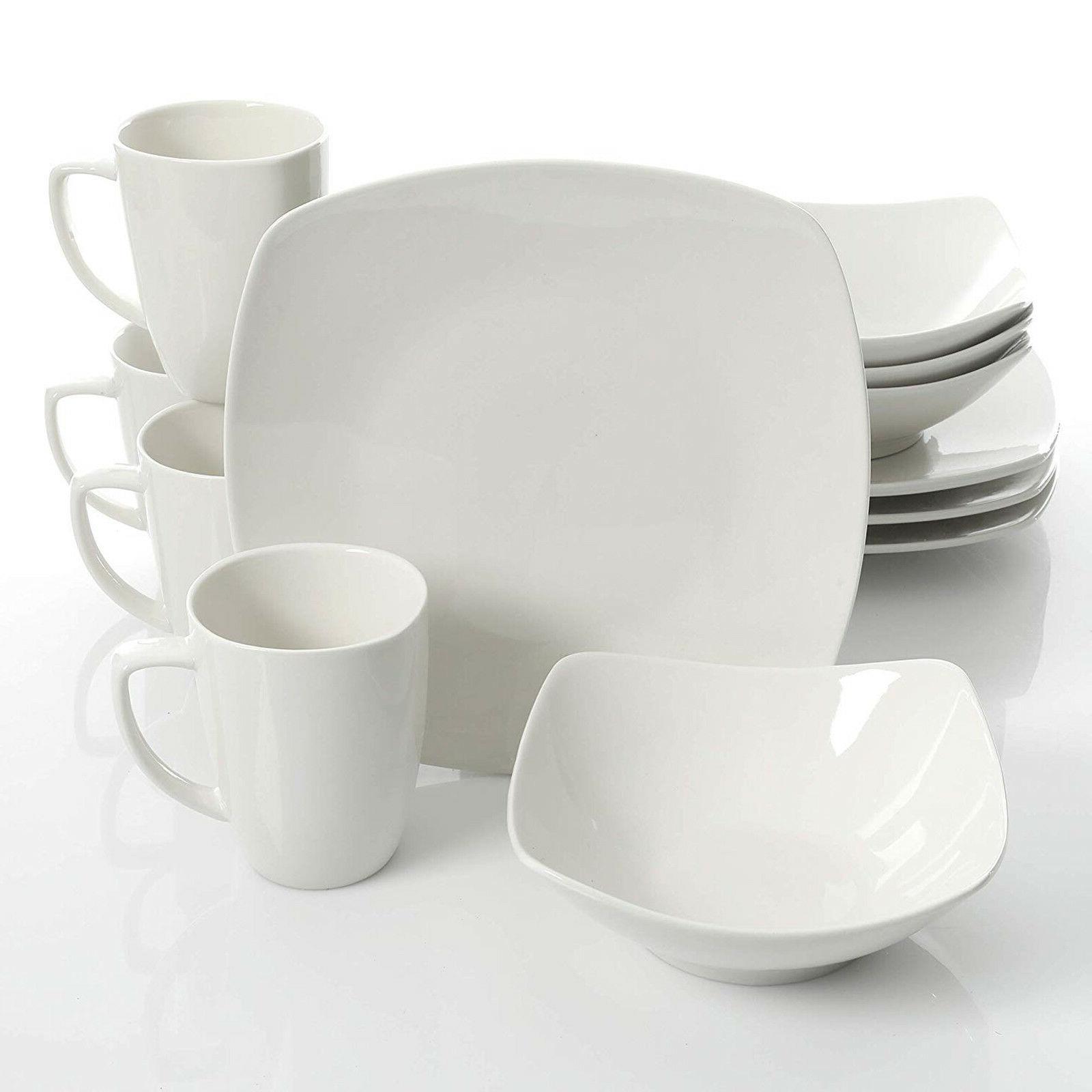 dinnerware set home 12pc kitchen dishes food