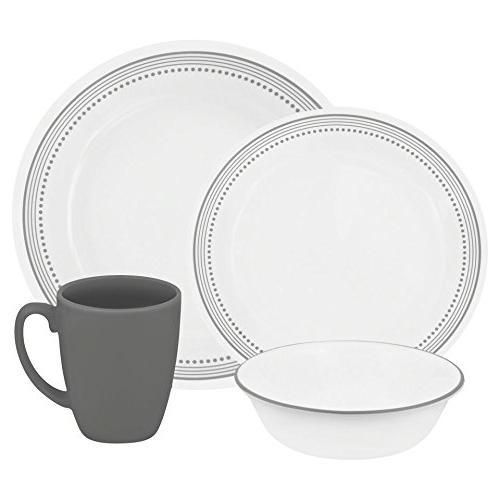 dinnerware set livingware mystic gray