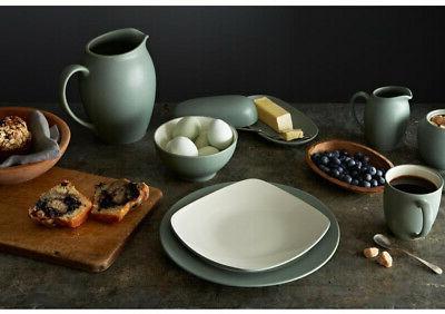 Dinnerware Set Matte-Textured and Safe, Rim