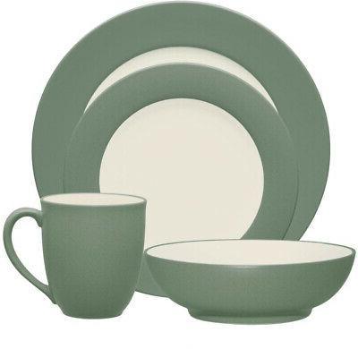 dinnerware set matte textured dishwasher and microwave