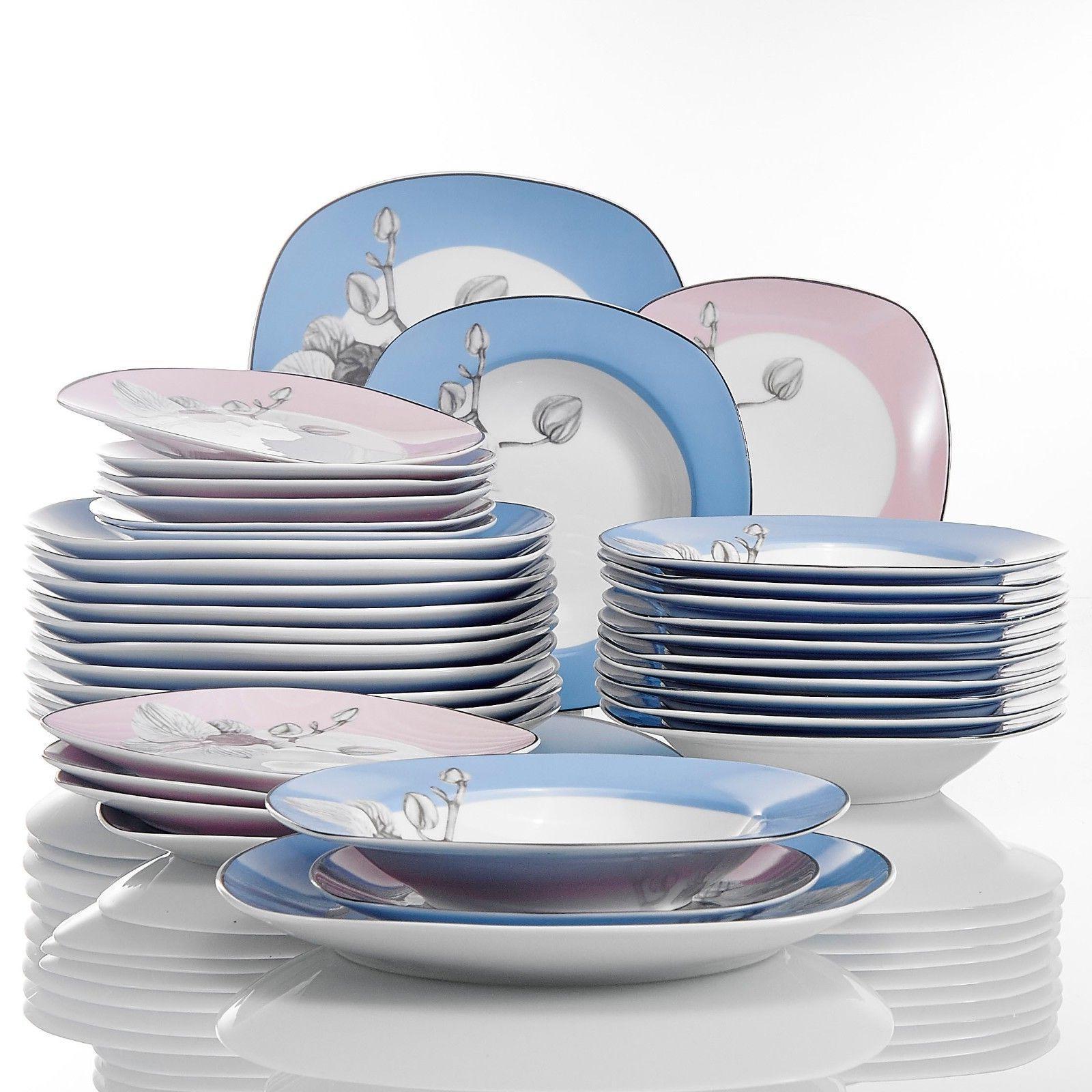 VEWEET Set Multi color Patterns Plate Sets
