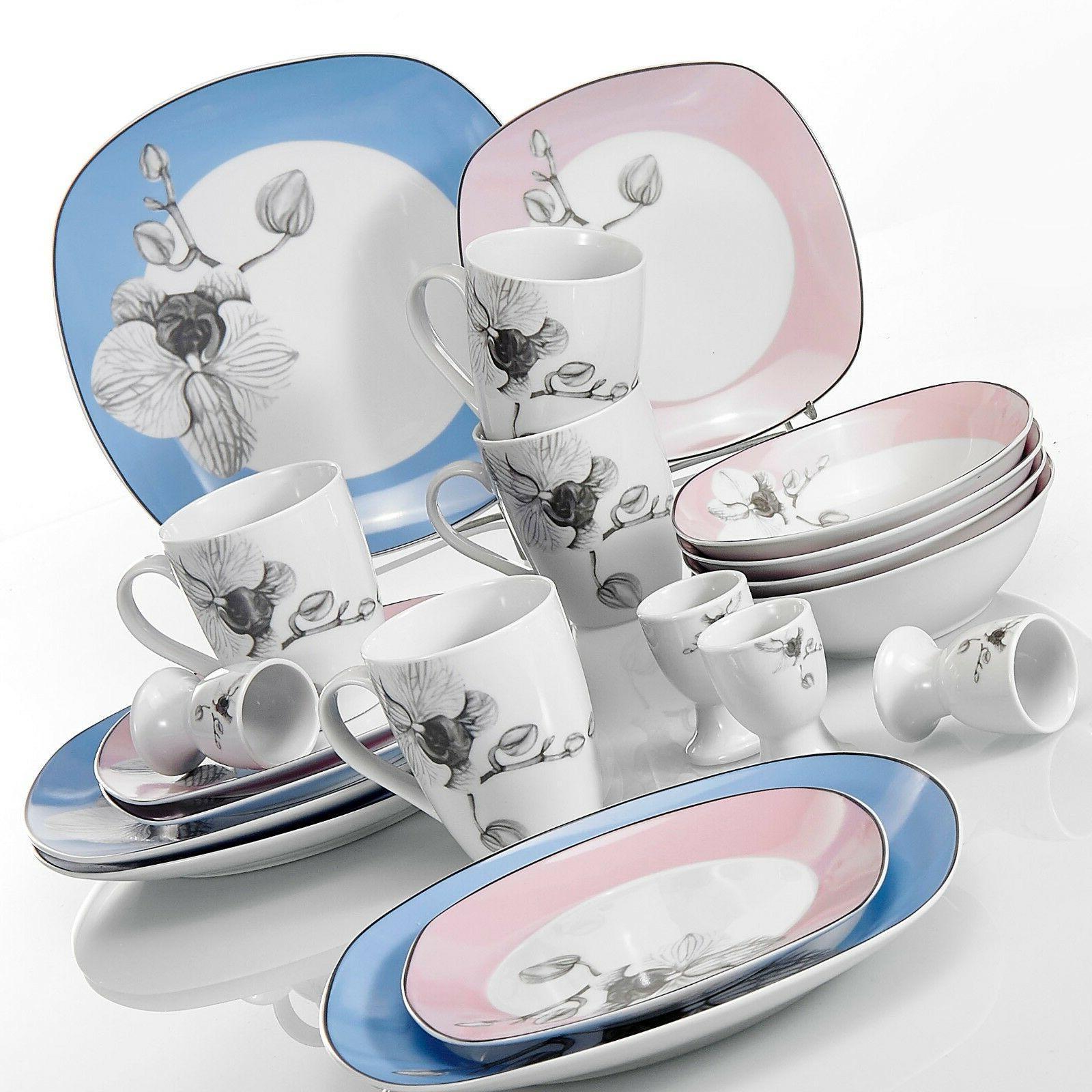 VEWEET Dinnerware color Kitchen Plate Sets