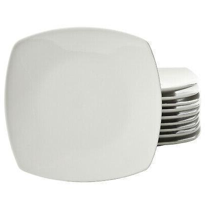 Dinnerware Plates Square Ceramic White