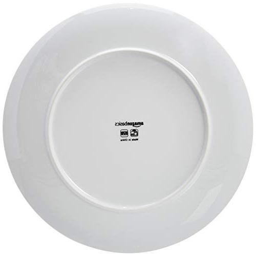 AmazonBasics Dinnerware Set - Porcelain Service for 6