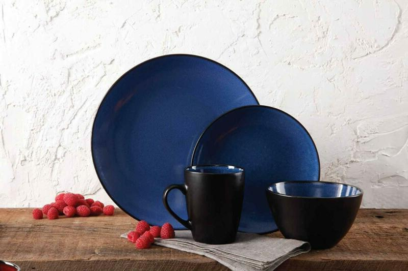 Dinnerware Plates Dishes Home 16 Blue
