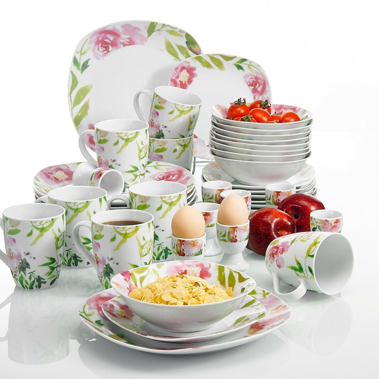 VEWEET Dinnerware Flower Set Kitchen Sets