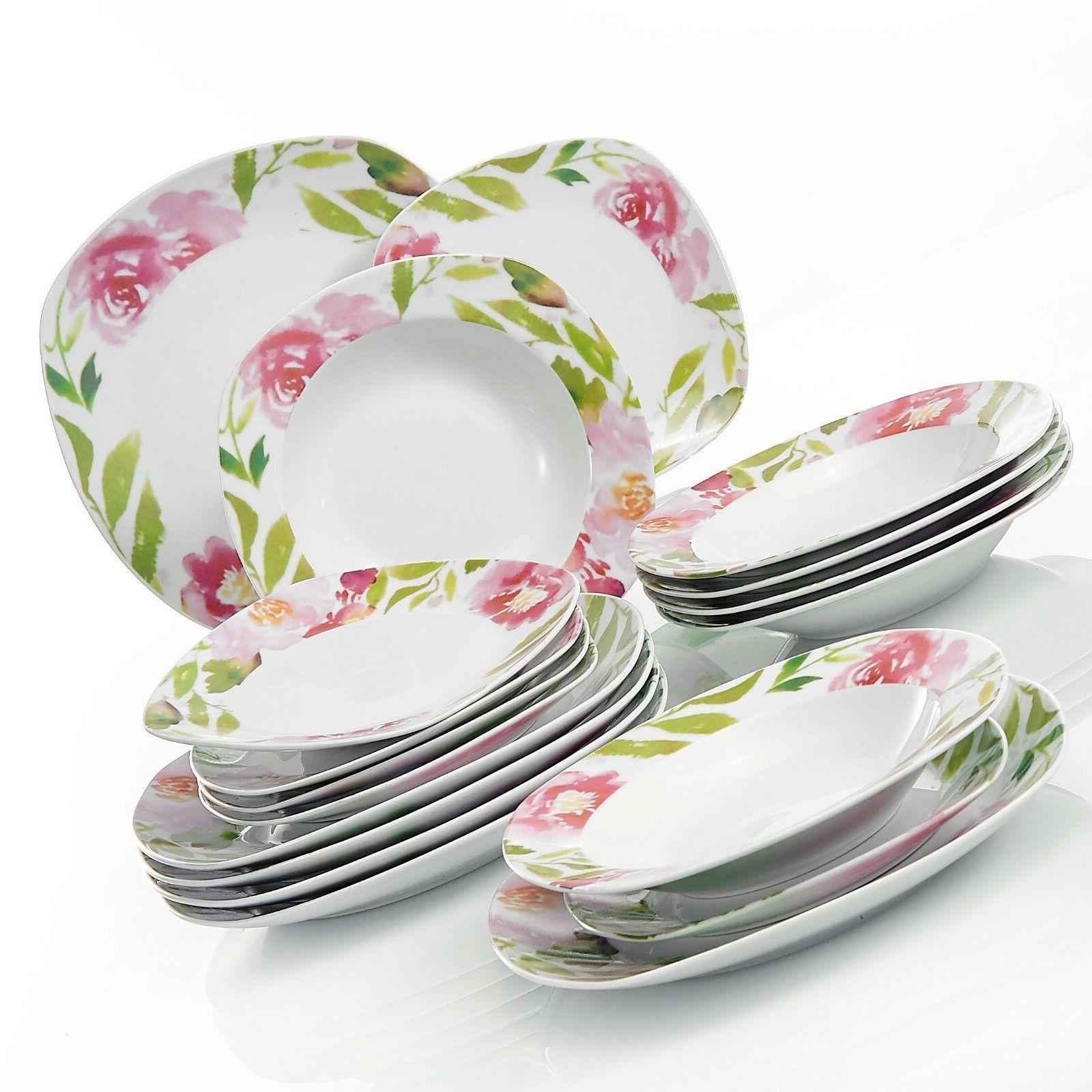VEWEET Flower Patterns Tableware Set Kitchen