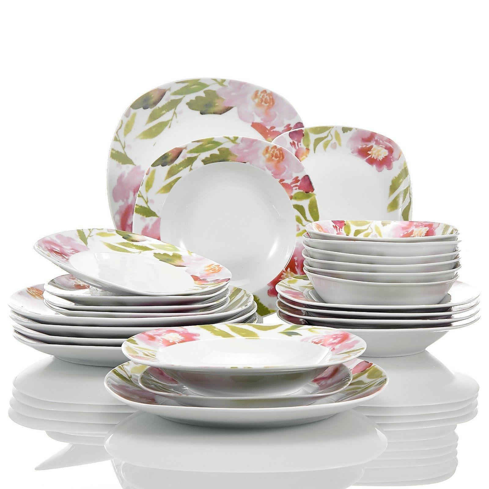 Flower Ceramic Set Kitchen