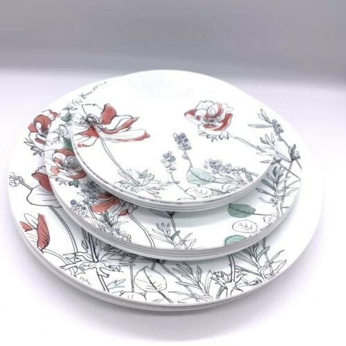dinnerware set service for 4 total 12