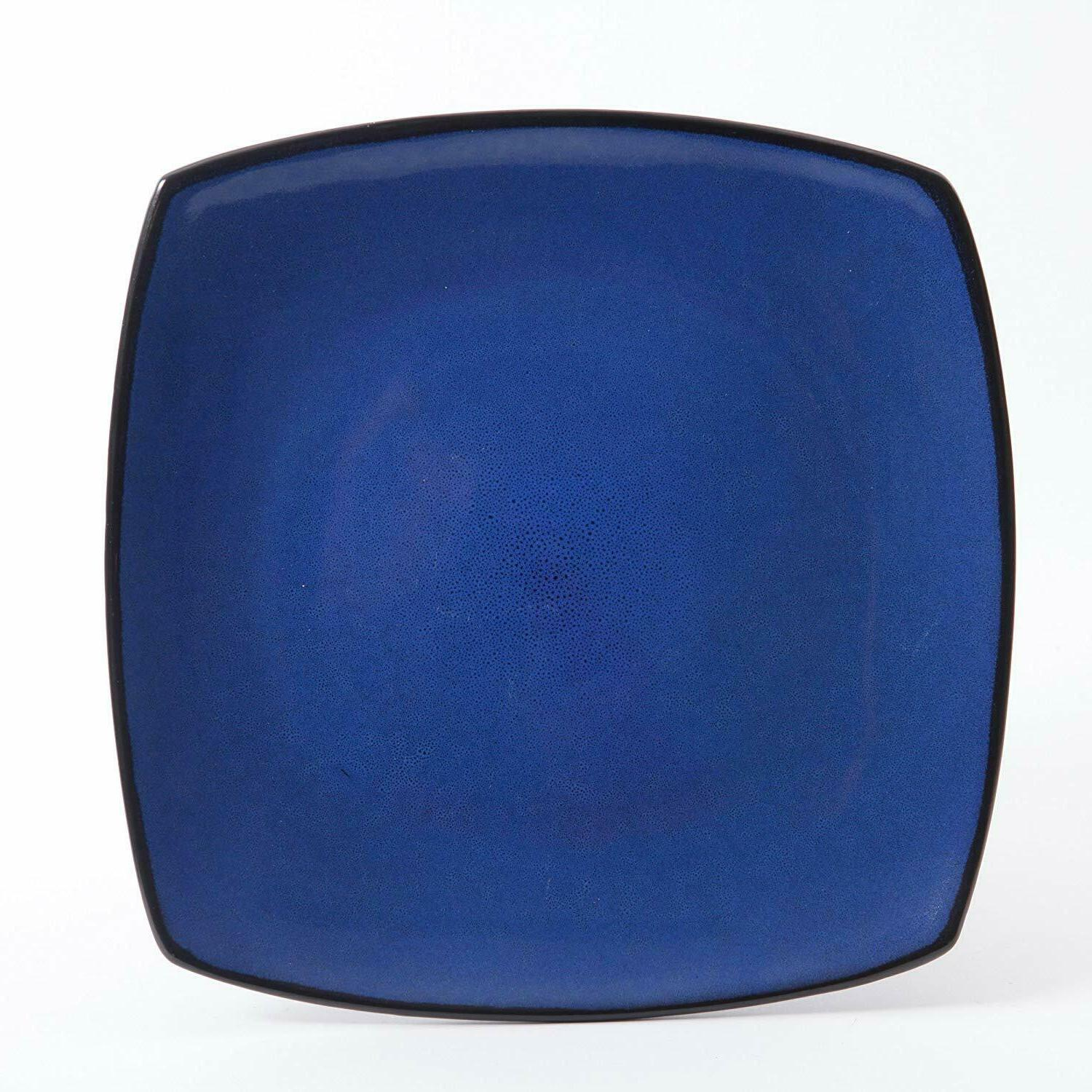 Dinnerware Square Dinner Plates Bowls Home Blue