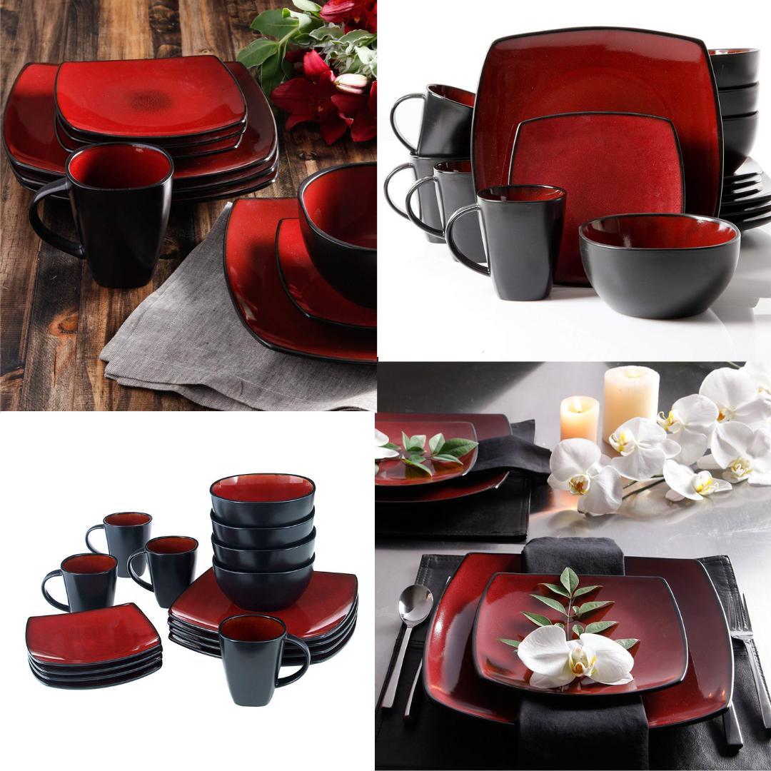 dinnerware set square dinner plates mugs dishes