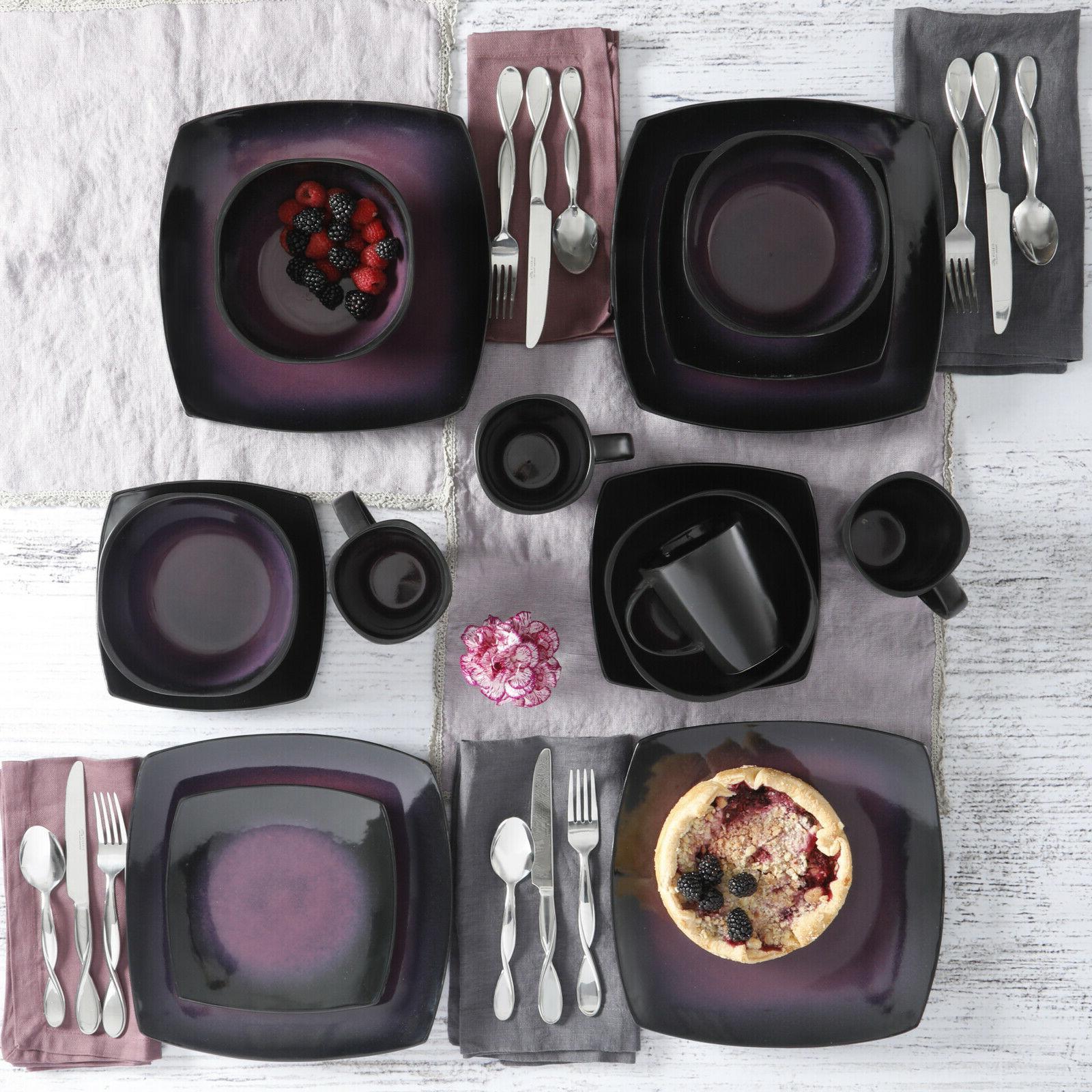 Dinnerware 16 Pc Dinner Cups reactive glaze