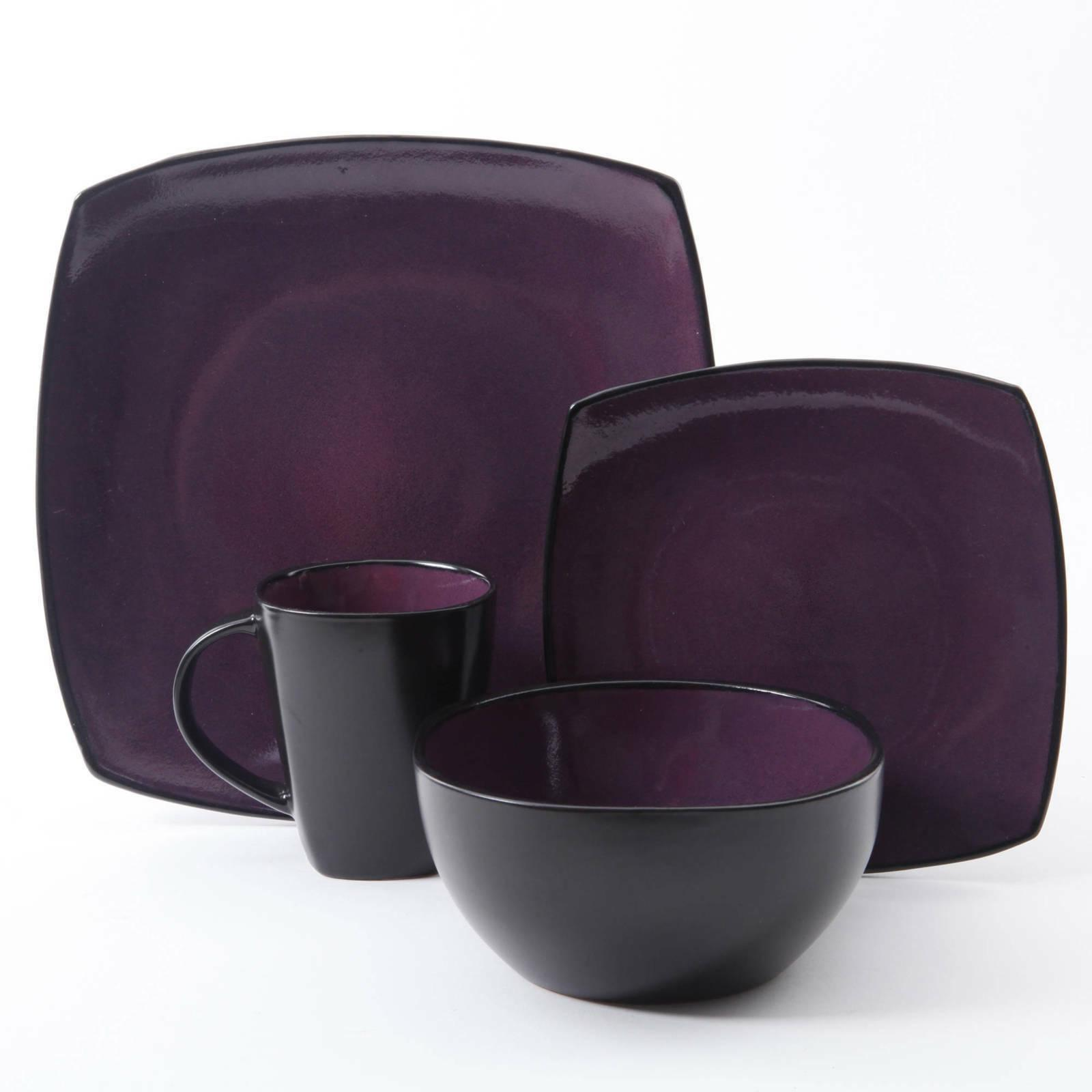 Dinnerware 16 Cups Bowl Dishes reactive glaze