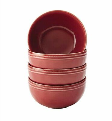 Stoneware, Microwave Safe, Red