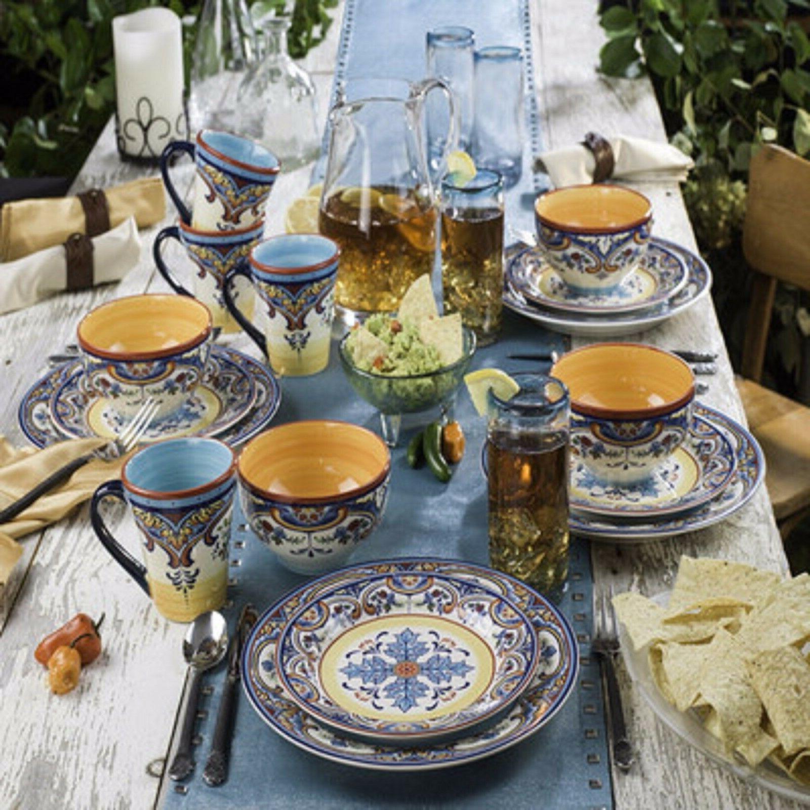 Dinnerware Zanzibar 16 Piece Dishes Cups