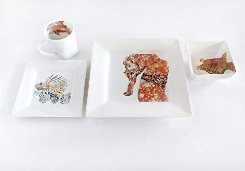 dinnerware sets seahorse collection
